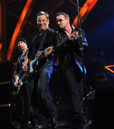 Bono, The Edge, and Bruce Springsteen