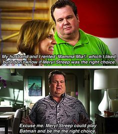 "I LOVE THIS LINE! ""Meryl Streep IS PERFECTION."" Yeah Don't offend Meryl Streep in front of a gay man."