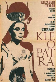 Artist: Eryk Lipinski Year: 1968  Cleopatra | 45 Amazing Vintage Polish Posters Of Classic American Films