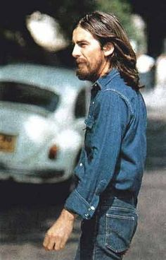 George Harrison (at the Abbey Road cover photo shoot, 1969)