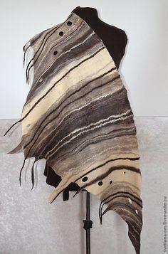 """Шали, палантины ручной работы. Ярмарка Мастеров - ручная работа Бактус валяный """"Тирамису"""". Handmade."""