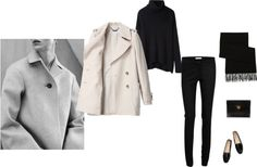 MINIMAL + CLASSIC: cozy by panda6980 featuring Helmut Lang long shirt / See by Chloé see by chloe coat / STELLA McCARTNEY black pants / Tod s loafers flat / Hermès bag