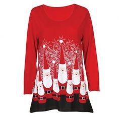 Mac & Belle ® by MCcc Sportswear ® Women's Ultimate Santa Jersey Tunic Top - Sleeve Long Shirt Top Christmas Gifts, Christmas Shirts, Christmas Clothing, New Mac, Fashion Line, Soft Fabrics, Sportswear, Cool Outfits, Tunic Tops
