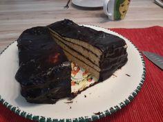 #Schichtkuchen mit #Vanilleextrakt und #Kokos #Schokolade