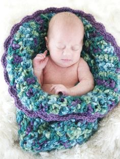 Baby Bloom Cocoon Crochet Pattern