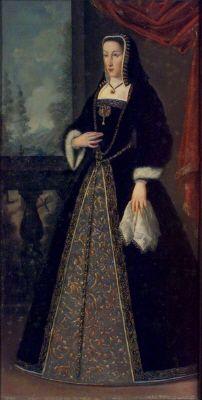 Avbildning: Johanna (Juana) den vansinnigaÄgare: Carl Gustaf Wrangel          Datering1500-1648  Övriga NyckelordOljemålning  Kvinna  SamlingSkoklosters slott    Inventarienummer3170