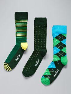 Happy Socks Striped Socks (3 Pack)