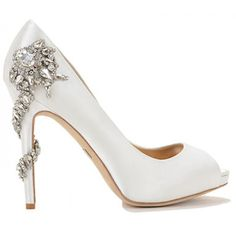 Bellissima Bridal Shoes is a top provider of wedding shoes online. Our selections include a wide selection of heels, flats and sandals from high-end designers. White Bridal Shoes, Bridal Heels, Wedding Shoes Heels, Green Wedding Shoes, Dyeable Shoes, Satin Shoes, Satin Pumps, Badgley Mischka Bridal, Badgley Mischka Shoes