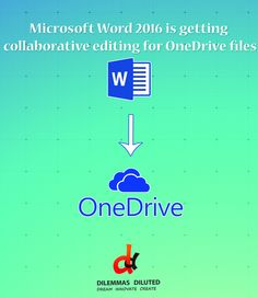 Microsoft now lets you collaborate on word files in Office 2016 for files on OneDrive #LatestInTech #Microsoft #OneDrive #DilemmasDiluted
