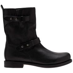 Rag & Bone moto boot ($445) ❤ liked on Polyvore featuring shoes, boots, black, engineer boots, black studded boots, black moto boots, black leather boots and black engineer boots