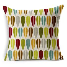 "Abstract Geometric Printed Cotton Linen Decorative Pillow Cushion Cover, 17"" -- $12 + $2 shipping on AMAZON"