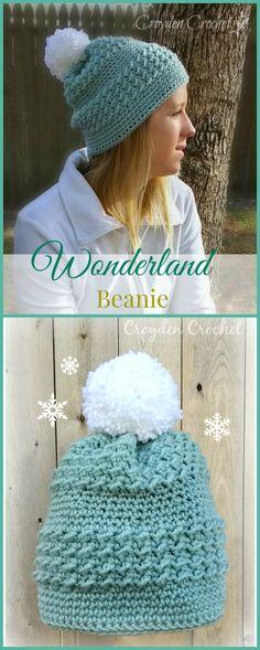 c6aea0ec8dd Free Crochet Pattern - Wonderland Beanie on Croydencrochet.com Crochet  Scarves