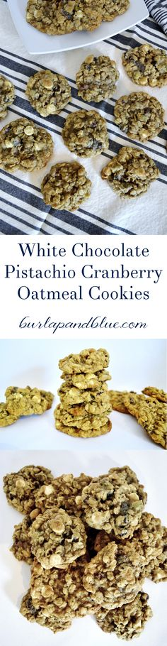 White chocolate Pistachio Cranberry Oatmeal cookies--such an easy and delicious cookie recipe!