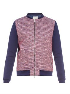 #RichardNicoll Tweed-front bomber jacket #MATCHESFASHIONman