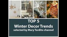 TOP 5 winter Decor Trends, winter Decor Trends, winter Decorating Ideas, Best Videos Compilation, Home Decor Ideas Compilation, Mary Tardito channel, DIY Hobby and Lifestyle, crafts ideas, recycled crafts ideas, home decorating ideas, diy home decor, winter decor 2018, winter crafts, organic winter decor, Recycled winter crafts, DIY Christmas tree, alternative Christmas tree, creative Christmas tree, farmhouse winter decor, rustic winter decor, winter crafts, Farmhouse rustic winter decor