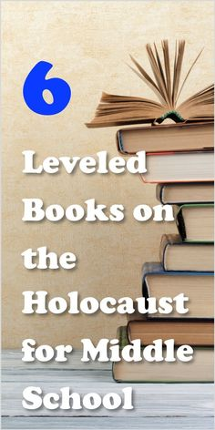 Here are great resources for providing leveled novels to teach about the Holocaust | ELA | Holocaust | Middle School