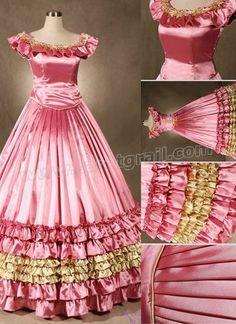 Fancy Pink Victorian Dress
