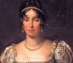 """""""Empress Josephine Bonaparte, wife of Napoleon Artist: not noted)"""" Not the empress: it's her daughter, Hortense de Beauharnais, wife of Napoleon's brother Louis, King of Holland. A detail from a portrait by Gerard which includes her son. Chateau De Malmaison, Pierre Paul, Empress Josephine, French Royalty, French History, Figure Photo, Swedish Royals, French Revolution, Royal Jewels"""