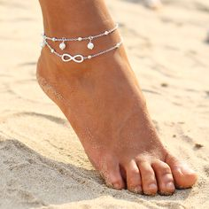 17KM Vintage Anklets For Women Bohemian Ankle Bracelet Cheville Barefoot Sandals Pulseras Tobilleras Mujer Foot Jewelry