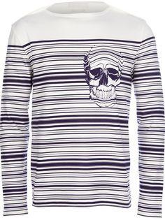 ALEXANDER MCQUEEN - striped skull t-shirt 6