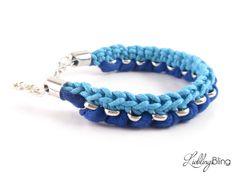 "Armband ""Basic"" in Blau/Türkis von LieblingsBling auf DaWanda.com"