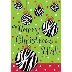 Merry Christmas Y'all Ornaments Double Sided House Flag