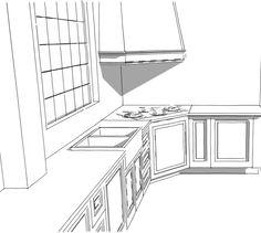 Nieuwe schetsen voor een klassieke keuken met Pitt Cooking. - bij  Door Justus & Tjebbo Interieur | www.justusentjebbo.nl