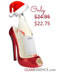 Ruby Red Wine Bottle Holder http://www.glamessence.com/high-heel-wine-bottle-holders/