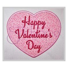 Happy Valentine's Day Applique - 7 Sizes!   What's New   Machine Embroidery Designs   SWAKembroidery.com Stitchtopia