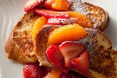 Challah French toast with Strawberries (Challah is my favor bread to make French toasts)