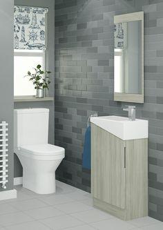 Pretty cloakroom mirror ideas exclusive on home decor gallery Bathroom Ideas Uk, Mold In Bathroom, Small Bathroom Vanities, Bathroom Photos, Cloakroom Vanity Unit, Cloakroom Basin, Vanity Units, Cloakroom Ideas, Faux Brick Wallpaper