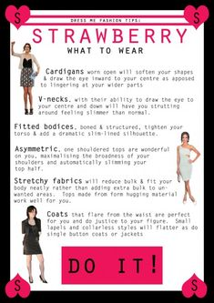 How to dress STRAWBERRY body shape - What to wear 1
