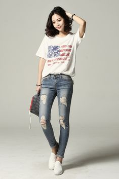 Stars and Stripes Casual Tee