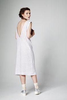 Vestido de lino Midi vestido vestido sin mangas por PixieWontPlay