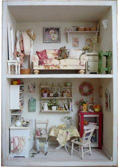 *FLORAL HOUSE*花屋さんで働く女の子の部屋 : ドールハウス・ミニチュア/ちいさくて*かわいいモノ