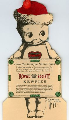 "vintage Kewpie Christmas ad 1913 | Before there was ""elf on the shelf,"" there were Kewpies."