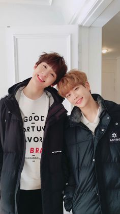 astro sanha and mj Toddler Fashion, Boy Fashion, K Pop, Astro Mj, Shinee, Kim Myungjun, Astro Wallpaper, Lee Dong Min, Astro Fandom Name