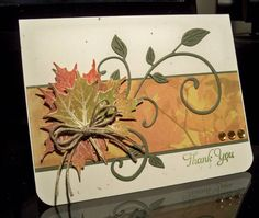 Lovely Fall Thank You Card...