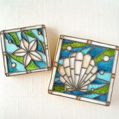 Seashell stained glass cookies
