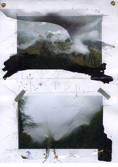 - drawingstorage:  Daniele Girardi, Great valley....  Feels like Rauchenberg's Canyon