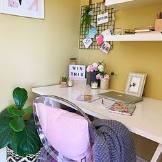 Today I've teamed up with The Reject Shop to share with you all how easy it is to do a quick office makeover for Mum this Mothers Day. Office Makeover, Home Office Space, Corner Desk, Stylists, Furniture, Shopping, Home Decor, Corner Table, Decoration Home