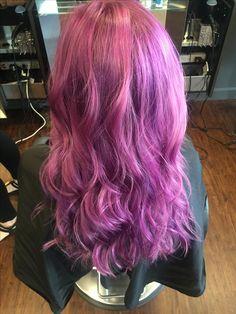 Purple hair by Shannon at Salon de Christe. @shannonatsdc #avedacolor #purplehair #salondechriste
