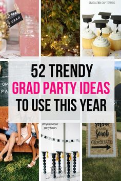Best Graduation Party Ideas Guaranteed To Impress I am graduating this june (what! can't believe it) and this had great graduation party ideas for am graduating this june (what! can't believe it) and this had great graduation party ideas for 2019 Outdoor Graduation Parties, Graduation Party Centerpieces, Graduation Party Planning, Graduation Party Themes, College Graduation Parties, Graduation Celebration, Graduation Party Decor, Grad Parties, Graduation Food
