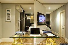home office no quarto com tv - Pesquisa Google