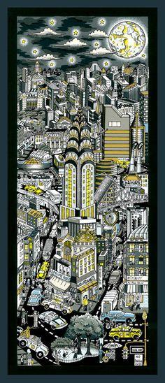 """New 3D PopArt release, Feb 2011:    """"Moonstruck over Manhattan"""""""