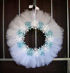 Tulle Wreath (Blue)