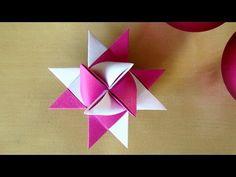 Fröbelsterne Anleitung - Weihnachtssterne basteln mit Papier - Origami Stern basteln für Weihnachten - YouTube