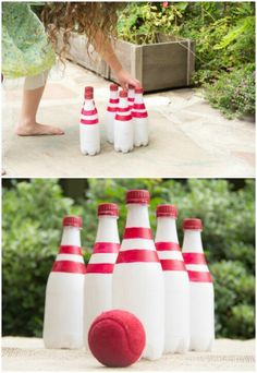 Bowling with Recycled Bottles