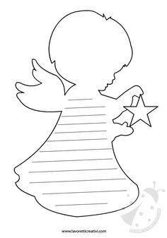 LETTERINA NATALE Per Natale è tradizione per molti bambini scrivere la loro letterina; questa sagoma a forma di angelo è sicuramente una biglietto molto or