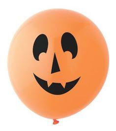 Pumpkin Balloon: Orange/Black